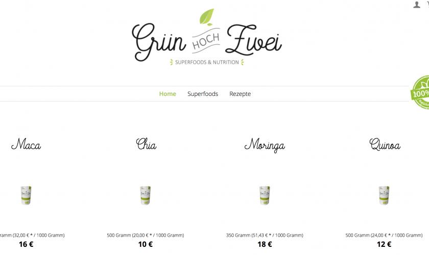 Superfood Onlineshop Design