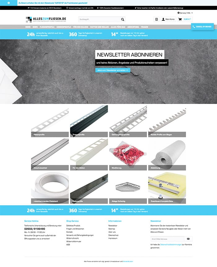 B2B Onlineshop Webdesign