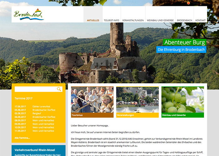Tourismus Webdesign Ferienregion