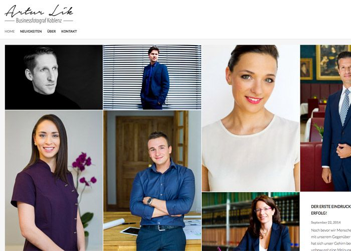 Fotografen Koblenz webdesign für businessfotograf artur lik module23 werbeagentur koblenz