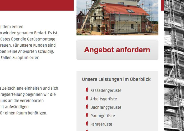 Webdesign Weyer Gerüstbau Wagner
