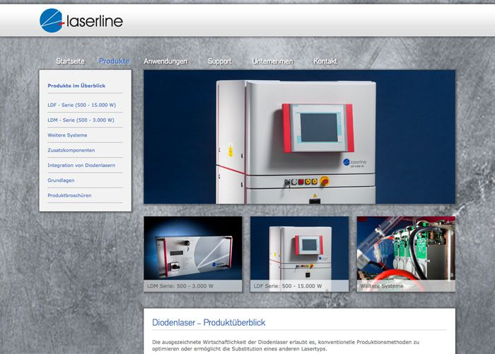 Industrie Webdesign