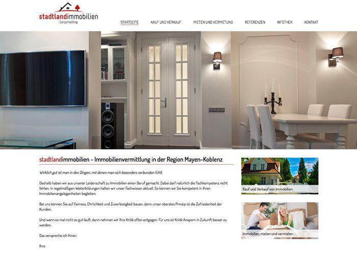 corporate design logo webdesign gesch ftsausstattung f r stadtlandimmobilien module23. Black Bedroom Furniture Sets. Home Design Ideas